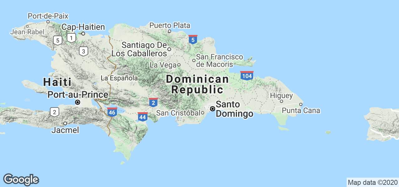 Map Dominican Republic