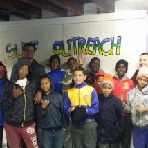 the surfing outreach centre and the children