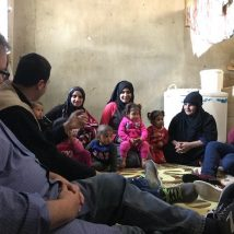 Meeting with Syrian Refugees in their homes