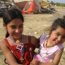 Greece - Girls in refugee camp