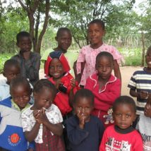 Some of the children in Zimbabwe.