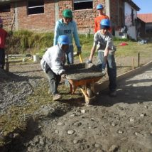 The American team working in Ecuador