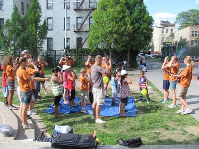 Children's Bible clubs in parks are a fun way to share Jesus!