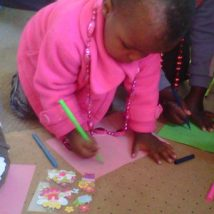 We love teaching the Orphaned children to colour in.