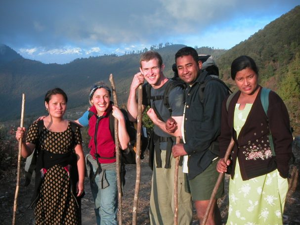 Trekking in Nepal on a short-term ministry trip.