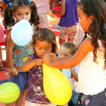 Paraguayan children during a Gospel outreach.