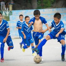 Soccer kids in El Salvador  2014